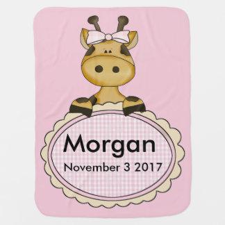 Morgan's Personalized Giraffe Baby Blanket