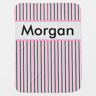 Morgan's Personalized Stripe Blanket Baby Blanket