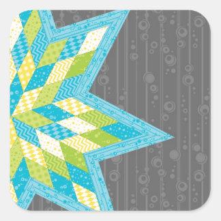 Morgan's Star Square Sticker