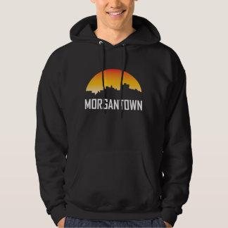 Morgantown West Virginia Sunset Skyline Hoodie