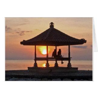 Moring in Bali Island Card
