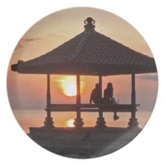 Moring in Bali Island Plate