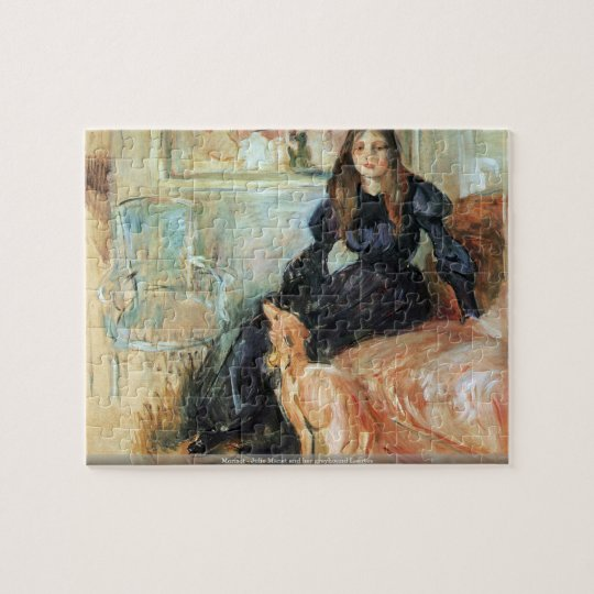Morisot - Julie Manet and her greyhound Laertes Jigsaw Puzzle