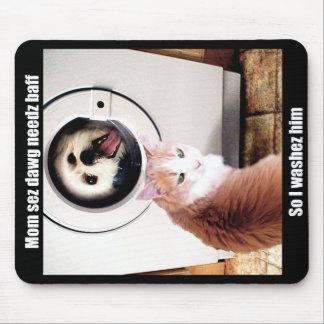 Morkie Dog Cat Meme Funny Humor Mouse Pad