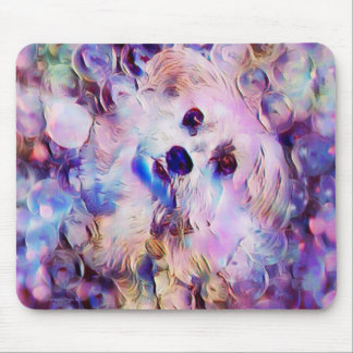Morkie Dog Puppy Bubbles Cute Fantasy Mouse Pad