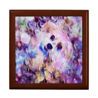 Morkie Dog Puppy Bubbles Cute Purple Gift Box