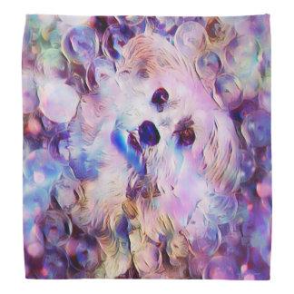 Morkie Dog Puppy Bubbles Purple Cute Bandana