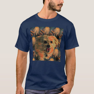 """Morkie Dog Puppy """"The Scream"""" Funny Humor T-Shirt"""