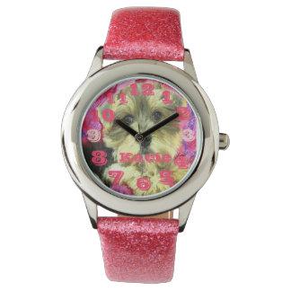 morkie pink watch