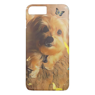 Morkie Puppy Dog Butterfly Yellow Cute iPhone Case