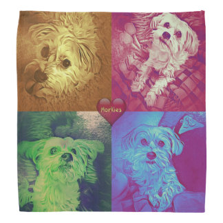 Morkie Puppy Dog Love Cute Bandana