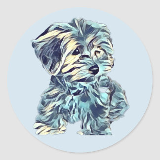 Morkie Puppy Sticker