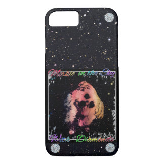 Morkie Space Diamond Dog Funny Humor iPhone Case