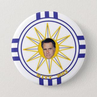 Mormon Flag: Mitt Romney 2012 3 Inch Round Button