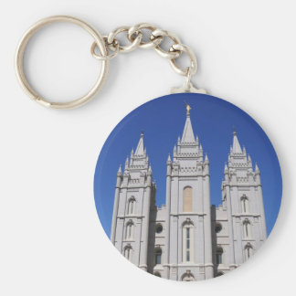Mormon (LDS) Temple  in Salt Lake City, Utah Keychain