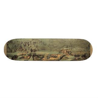 Mormon Pioneers Map Nauvoo to Great Salt Lake 1846 Skateboard Deck