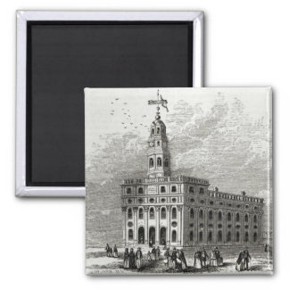 Mormon Temple at Salt Lake, 1854 Magnet