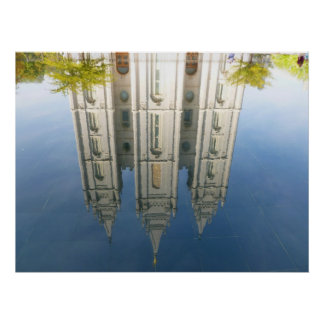 Mormon Temple Reflection Poster