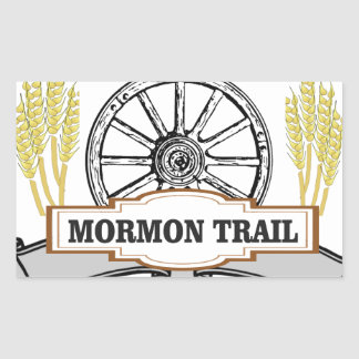 mormon trail art sticker