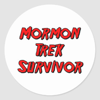 Mormon Trek Survivor Classic Round Sticker