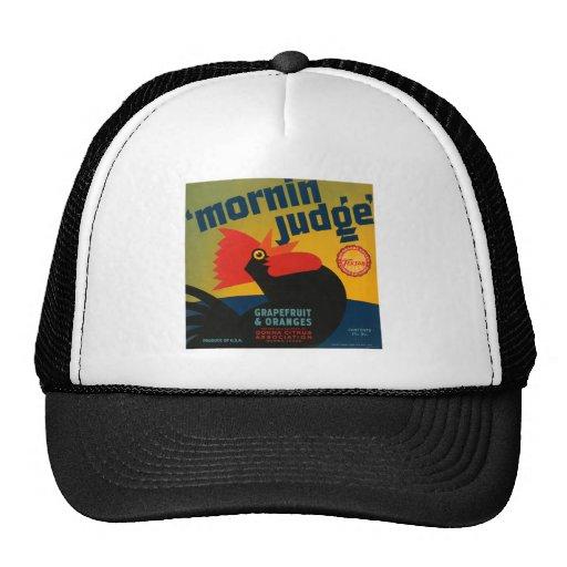 Mornin Judge Citrus Vintage Fruit Crate Label Mesh Hats