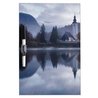 Morning at Lake Bohinj in Slovenia Dry Erase Board