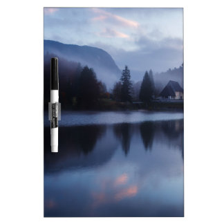Morning at Lake Bohinj in Slovenia Dry Erase White Board