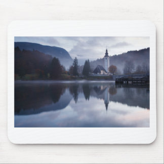 Morning at Lake Bohinj in Slovenia Mouse Pad
