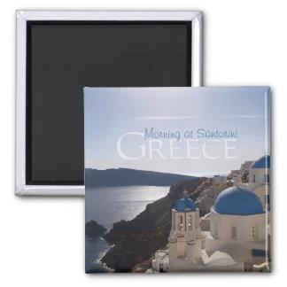 Morning at Santorini Greece Souvenir Fridge Magnet