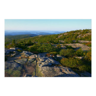Morning atop Cadillac Mountain at Acadia Poster