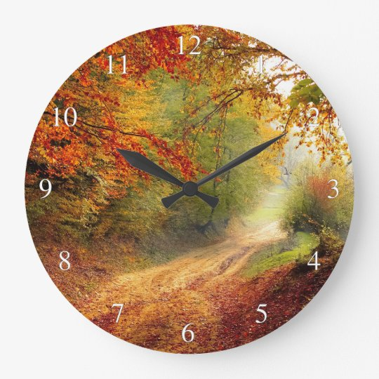Morning Autum Forest Clock