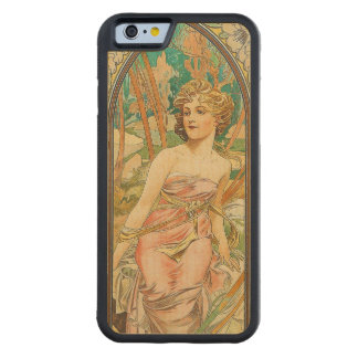 Morning Awakening Art Nouveau Fine Art Carved Maple iPhone 6 Bumper Case