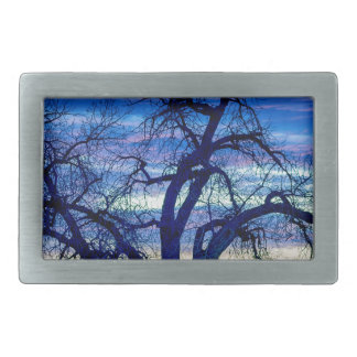 Morning Blues Rectangular Belt Buckle