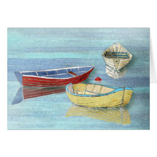 Morning Boats Summer Greeting Card
