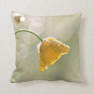 Morning Buttercup Throw Pillow