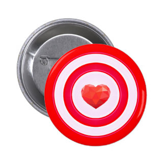 Morning call in the heart 2 inch round button