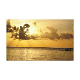 Morning Catch Pompano Beach Florida Canvas Print