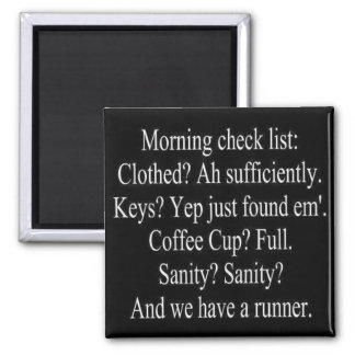 morning check list magnet