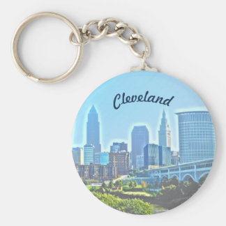 Morning Cleveland Ohio Keychain