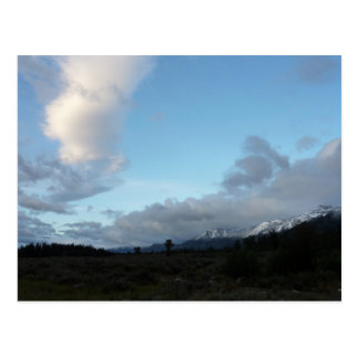 Morning Clouds at Grand Teton National Park Postcard