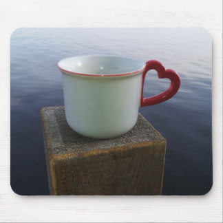 Morning coffee mouse pad