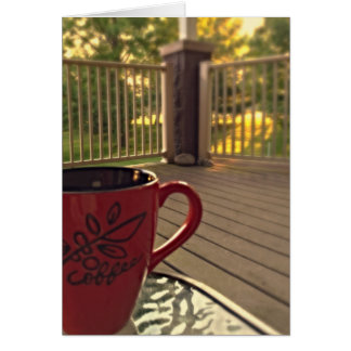 Morning Coffee Note Card