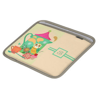 Morning Coffee Owl iPad Sleeve
