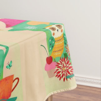 Morning Coffee Owl Tablecloth