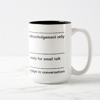 morning coffee Two-Tone coffee mug