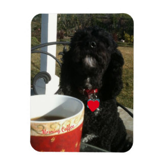 Morning Coffee with Pup Magnet