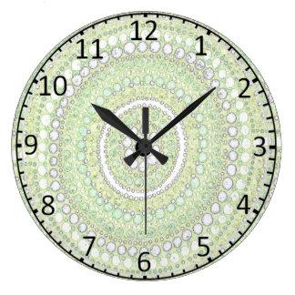Morning Corroboree Aboriginal Art Clock