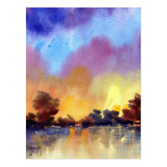 Morning Dawn in Watercolour Post Card