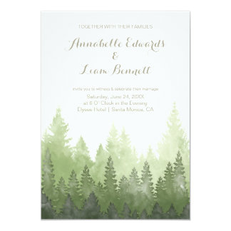 Morning Dew in the Woods Wedding Invitation