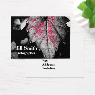 Morning Dew on a Foliage Business Card